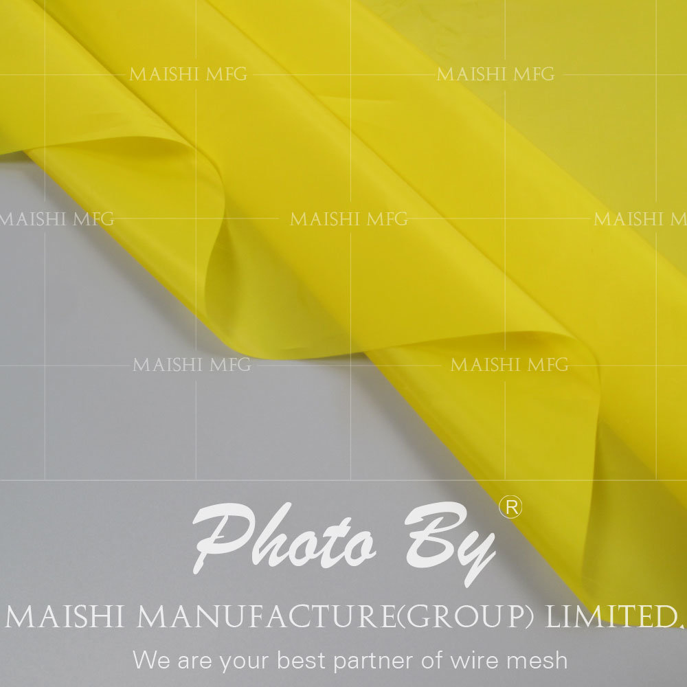 Yellow Silk Screen Printing Mesh
