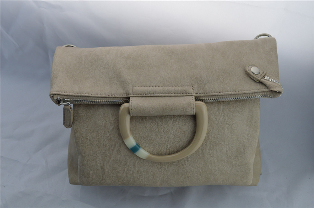 Portable Dual-Purpose Apricot Knapsack Handbag