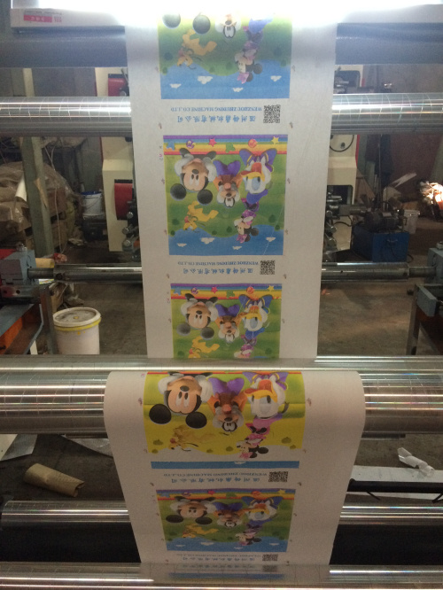 PE Plastic Bag Flexographic Printing Machine