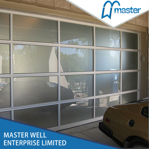 Tempered full view frosted plexiglass glass mirror for Opaque garage door