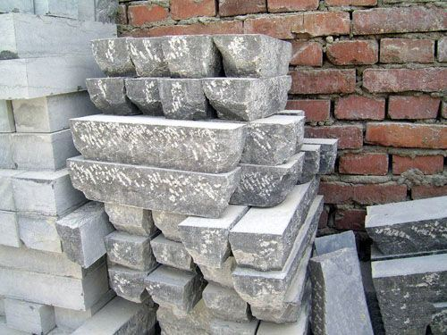 Piedra china de la seta del granito con color gris for Colores de piedra de granito