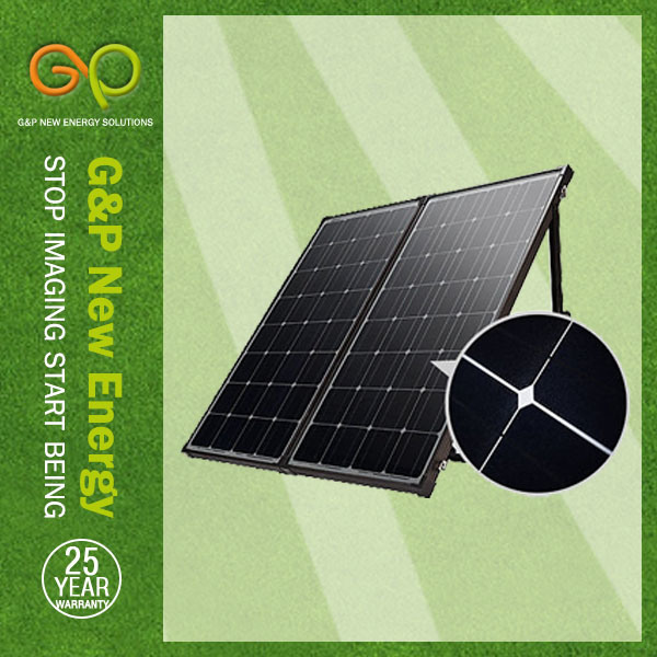 160W Portable Solar Panel Power Charge Energy 12V DC