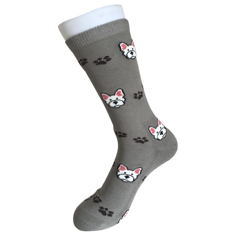 Half Cushion Cotton Fashion Logo Sport Little Dog Socks (JMCC02)