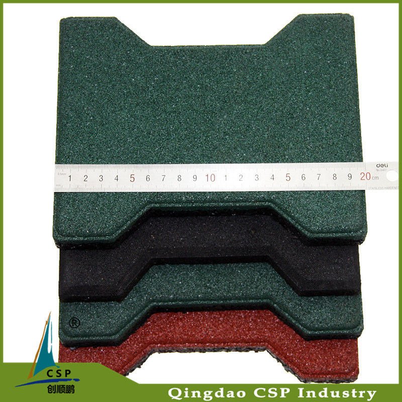 Best Quality Qingdao Cheapest Rubber Flooring Paver for Outdoor