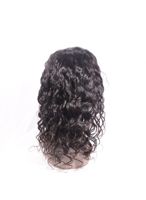 Indian Remy Human Hair Loose Wave Full Lace Wig with Natural Hairline