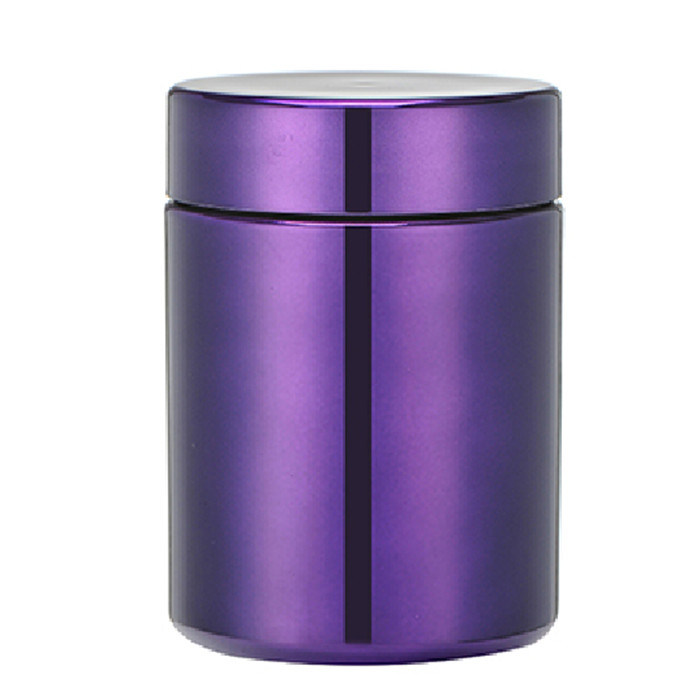 13oz/380ml Purple Chromed/Metallized Plastic HDPE Capsule Bottle
