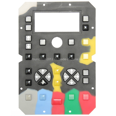 Key Control Overlay Silicone Rubber Button Keypad