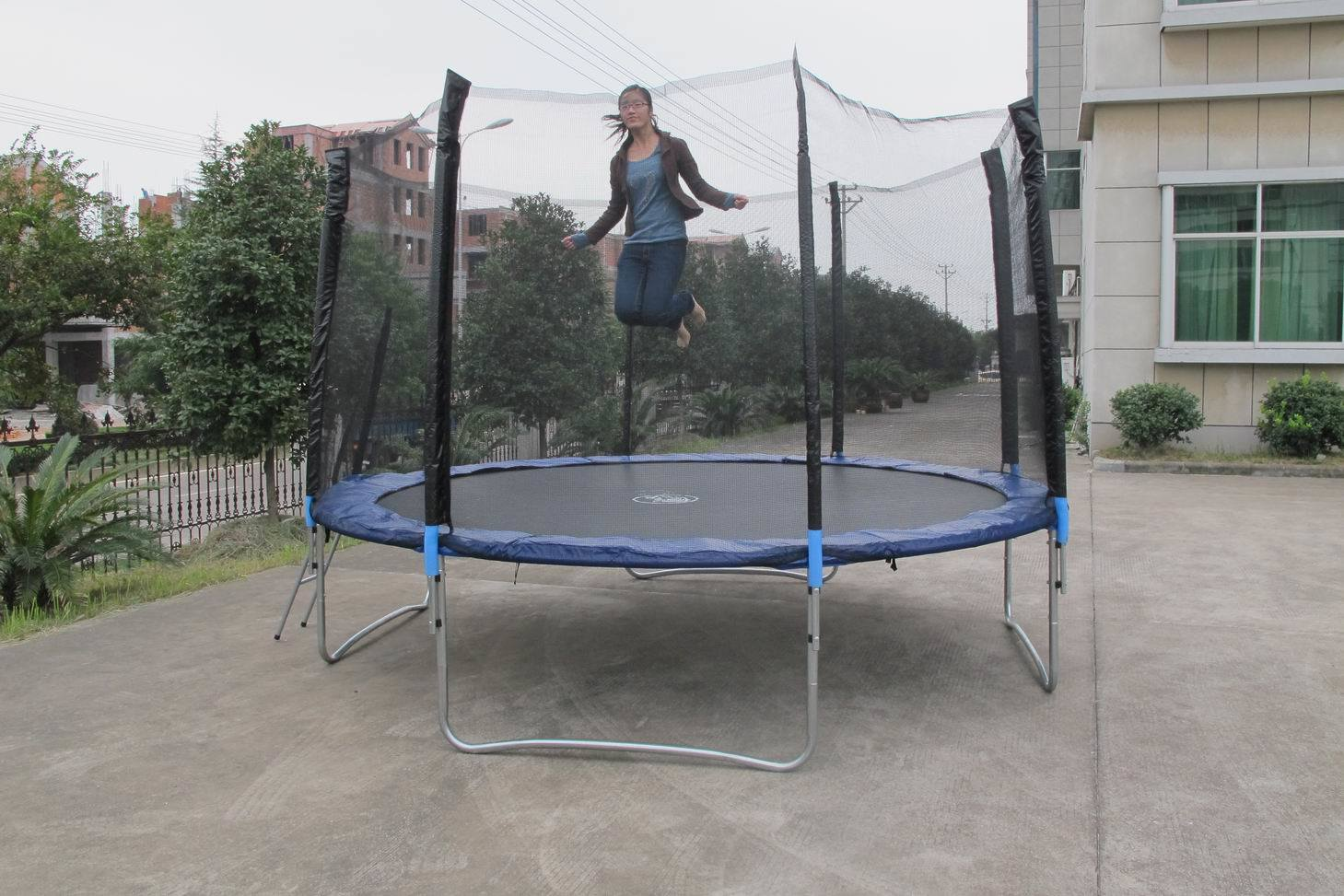 China 12ft Bungee Trampoline With Enclosure Sx Ft4 72e