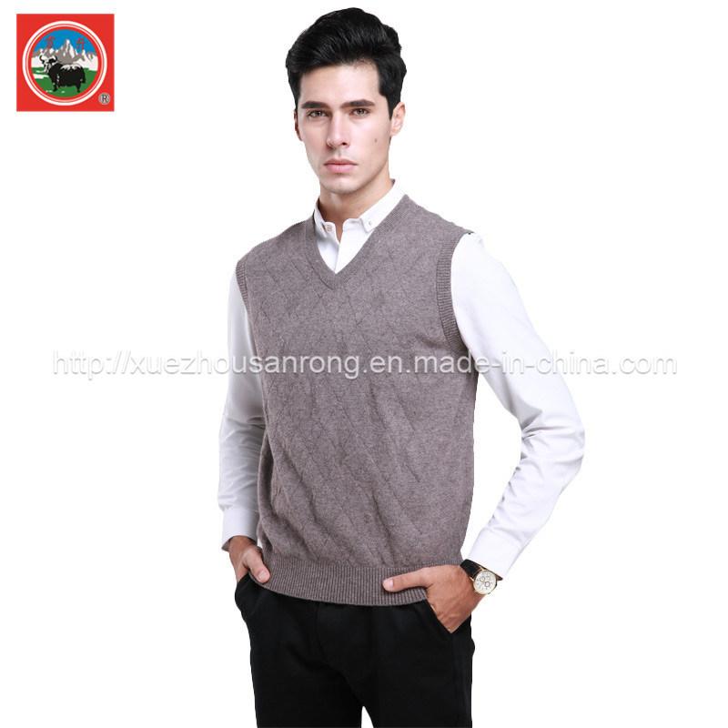 Yak Wool Pullover V Neck Waistcoat/ Cashmere Garment/ Yak Wool Clothing