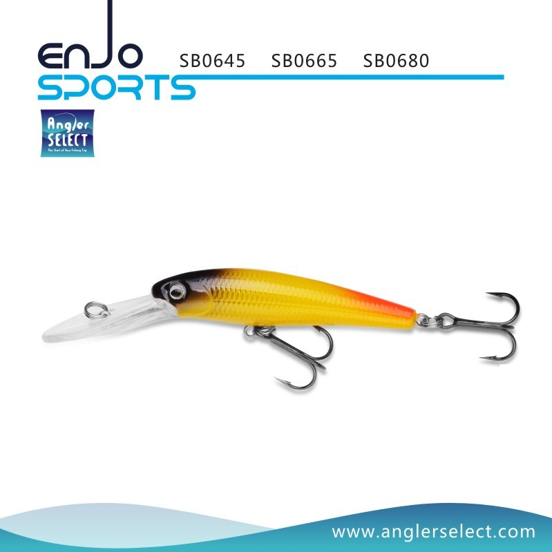 8cm Deep Diving Fishing Tackle Lure with Vmc Treble Hooks (SB0680)