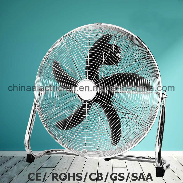 "18"" Chrome Floor Standing Fan with GS/Ce/RoHS"