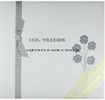 High Quality Wedding Scrapbook Album with Ribbon and Gemstone