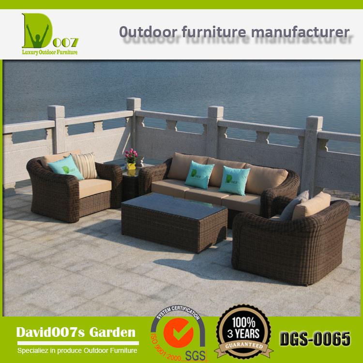 Luxury Garden Sectional Wicker Sofa Rattan Outdoor Furniture