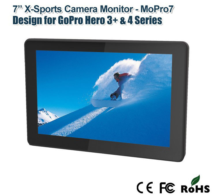 "7"" Gopro X-Treme Sports Camera Monitor with Dual Rear Cover"