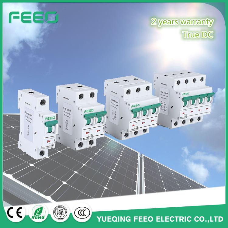 Free Samples! Ce IEC60947 Solar Application 2p, 3p, 4p 10A, 16A, 20A 12VDC-1000VDC Mini DC Circuit Breaker MCB