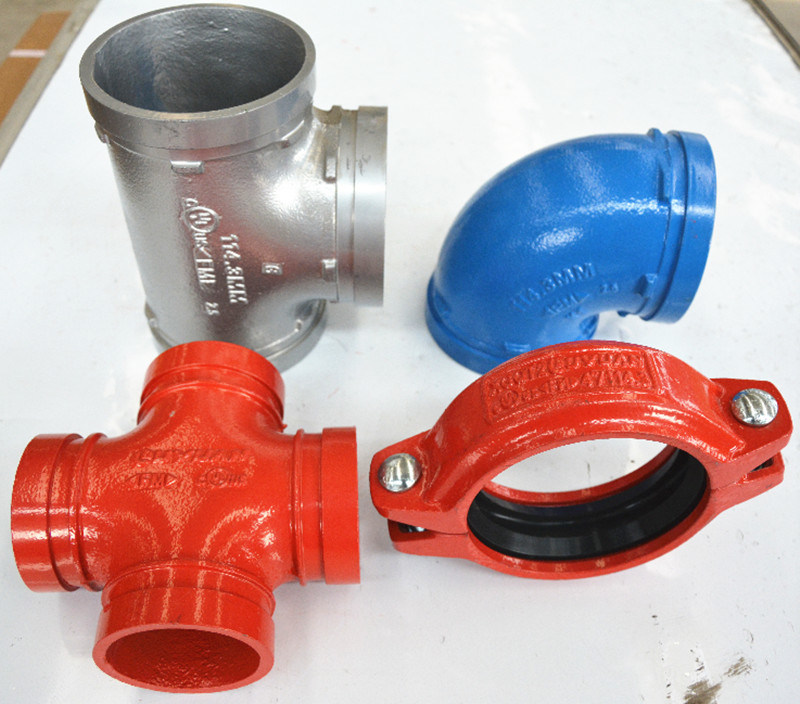 FM UL Approvals Grooved Plumbing Fittings and Grooved Elbow for Building Projects