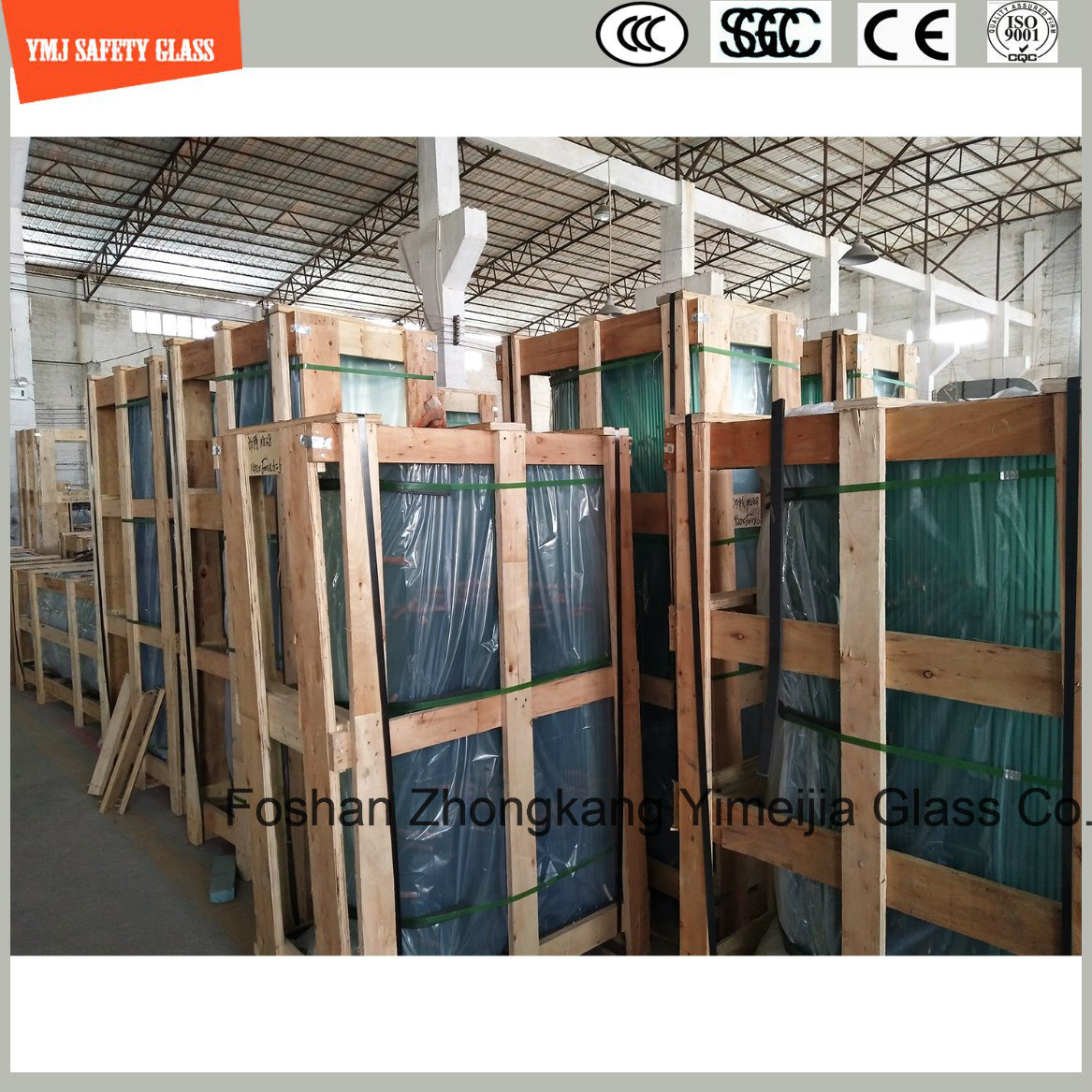 4-19mm Tempered Glass for Hotel, Construction, Shower, Green House