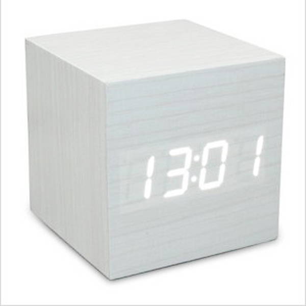china 2011 hot cube led wooden clock wooden table clock. Black Bedroom Furniture Sets. Home Design Ideas