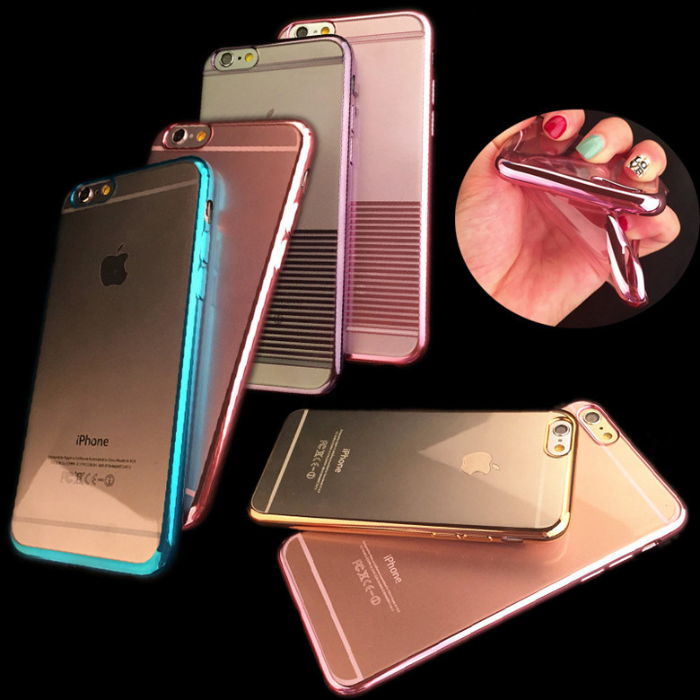 for iPhone/Samsung/Sony Mobile Phone Accessories, Crystal Electro-Plating Silicone Cell/Mobile Phone Case Covers