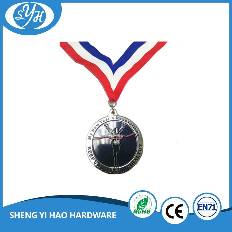 Customized Round Soft Enamel Sports Medal with Lanyard