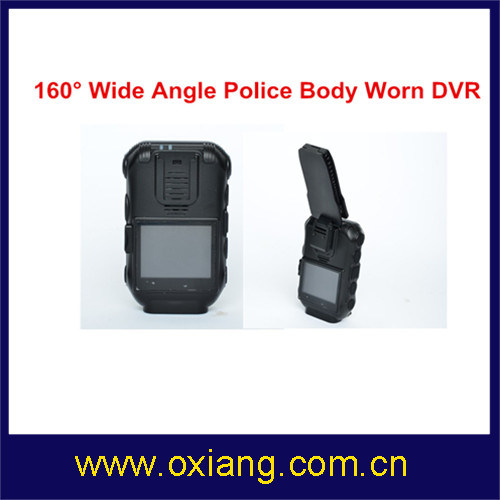 5m 2′′ Police Body Worn Camera Police DVR with 3600 mAh Battery
