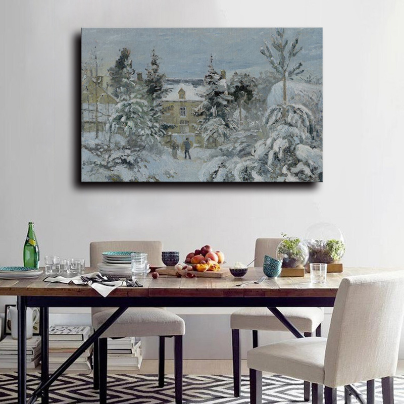 Wholesale High Quality Decoration Oil Painting, Home Decoration Painting, Art Painting (Chinese winter nature landscape)
