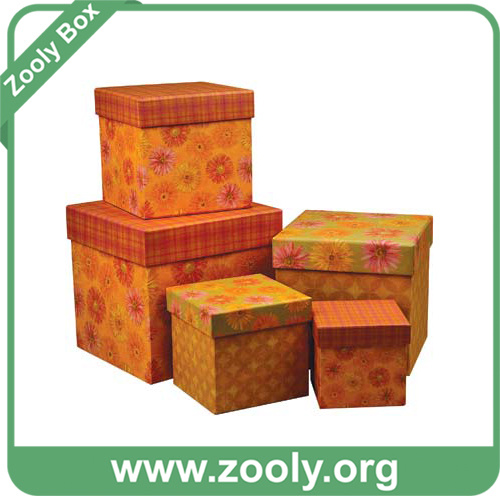 Printed Cardboard Paper Boxes / Rigid Nesting Gift Box