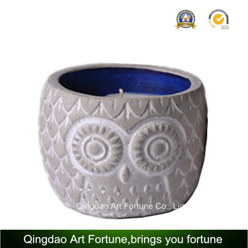 Owl Cement Citronella Candle for Garden Outdoor Decor