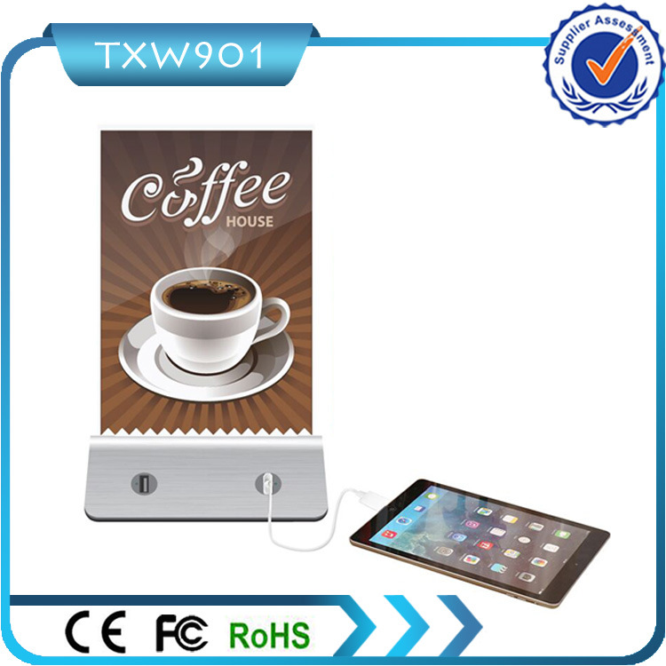 Cafe Charger Station for Menu Power Bank