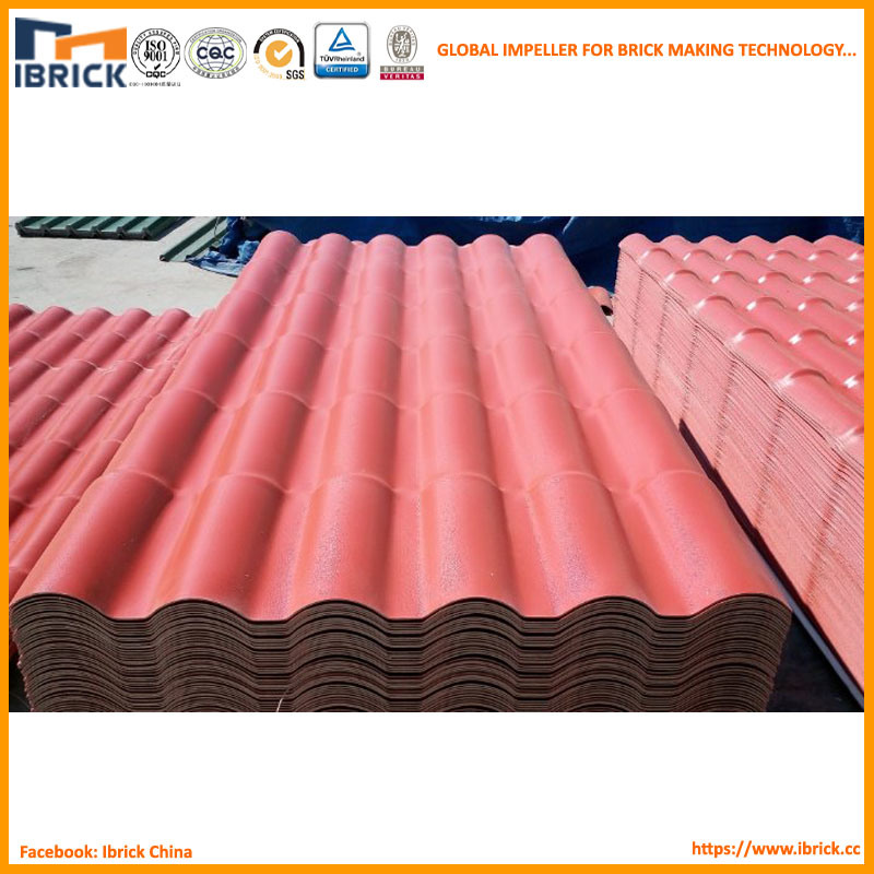 China Fireproof Fiber Plastic Tile Roofing Materials Synthetic Resin Roof