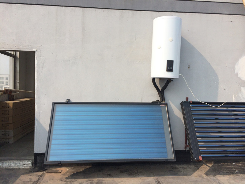 Wall Mounted Flat Plate Solar Collector