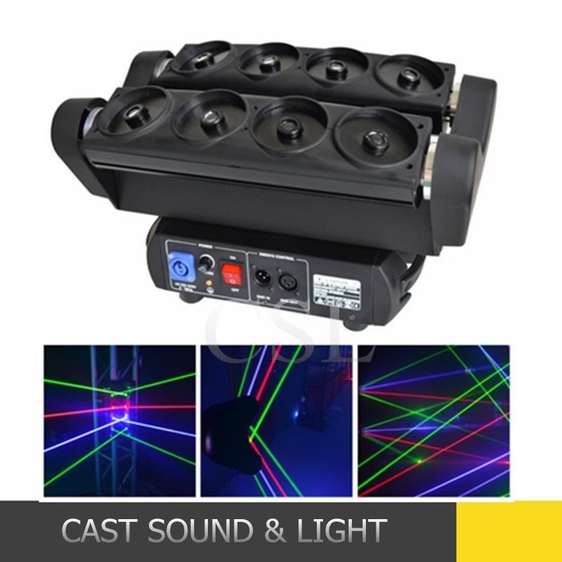 New Disco Spider Beam 8 Eye Moving Head Laser Light