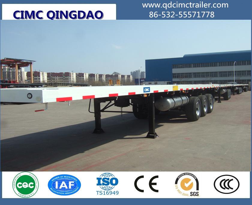 Cimc 3 Axle 40FT Flatbed Container Semi Truck Trailer