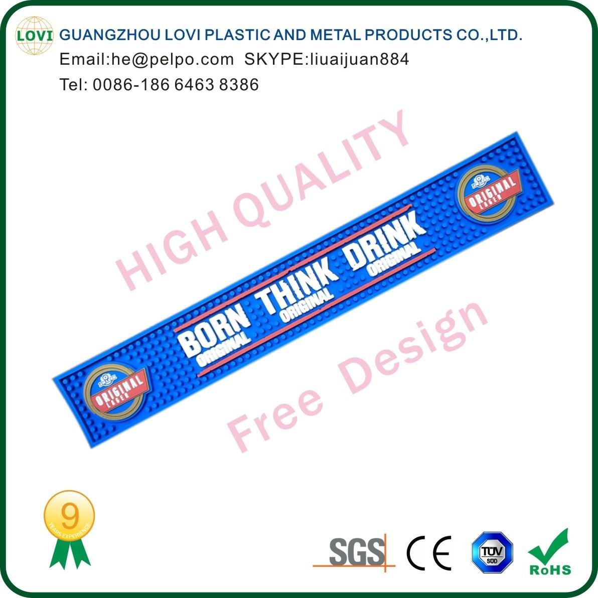 Free Design High Quality Soft Flexible PVC Bar Mat