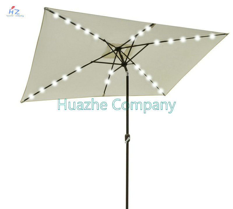 2X3m Square LED Umbrella Garden Umbrella Patio Umbrella Outdoor Umbrella Solar LED Umbrella