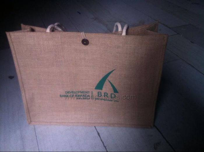 Custom Logo Promotional Jute Shopping Bag