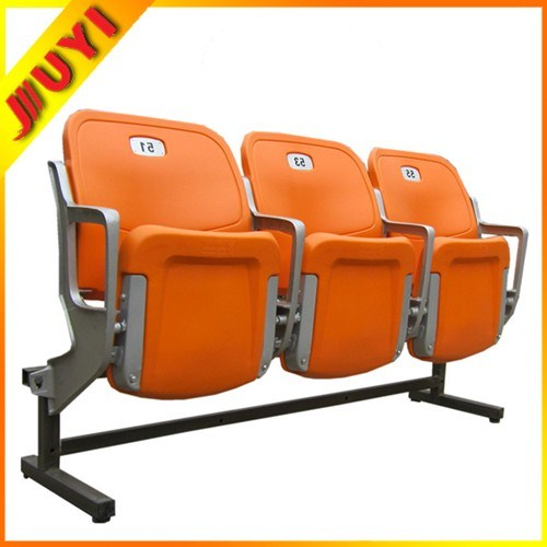 China Blm 4652 Plastic Chairs for Sale Used Stadium Seats with Metal Legs Whi
