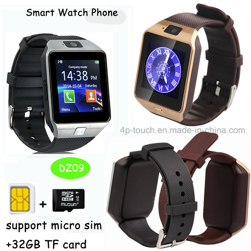 Promotion Gift Dz09 Bluetooth Smart Watch with 2.0m Camera