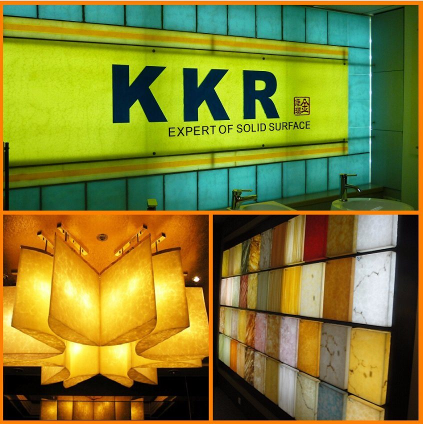 Kkr Resin Stone Solid Surface Translucent Solid Surface
