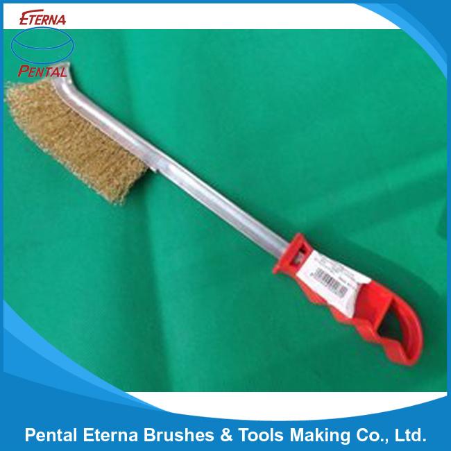 Long Plastic Handle Steel Wire Brush