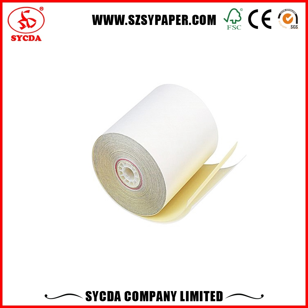 Customized 63G Carbonless NCR Paper Rolls for Bank Use