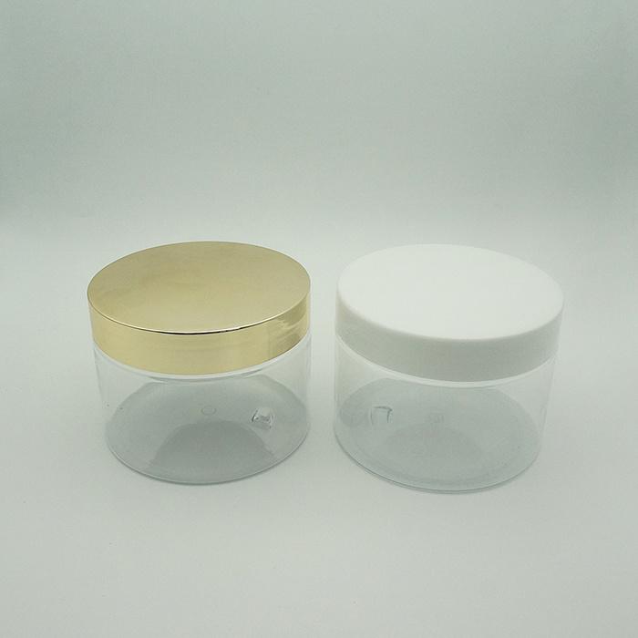 Hight Quality Transparent Big Cream Jar with Plastic Cap