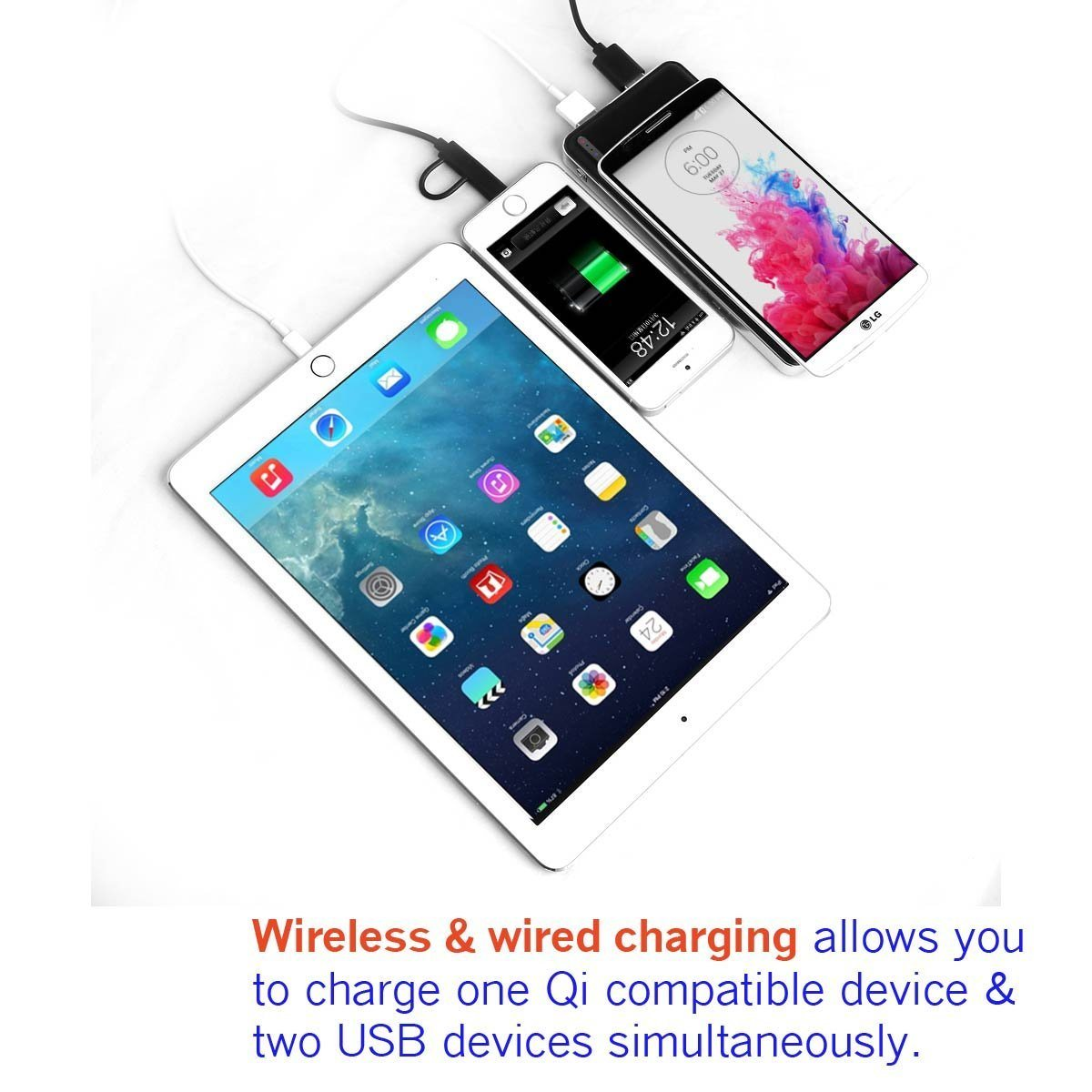 Wireless Charger for Samsung S6/S6 Edge/Nexus/iPhone/HTC Smartphone