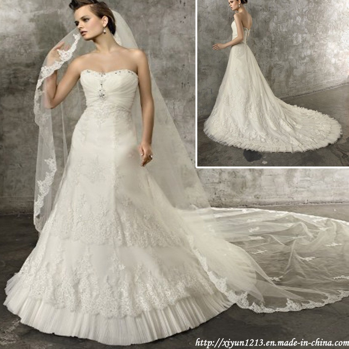 Wedding Gowns In China: China Latest Wedding Dress/Bridal Dress (angela-197