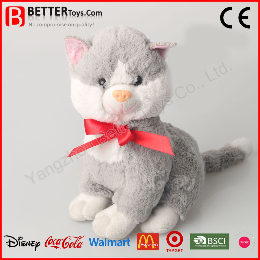 China Soft Plush Stuffed Animal Cat Toy