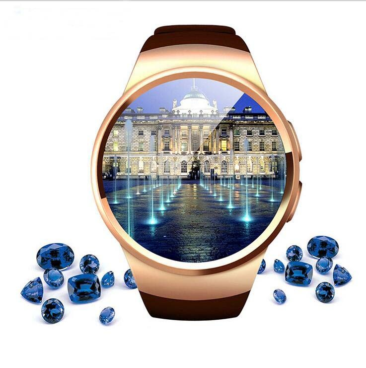 """Intelligent Wearable Round 1.3"""" Smart Watch Cell Phone"""