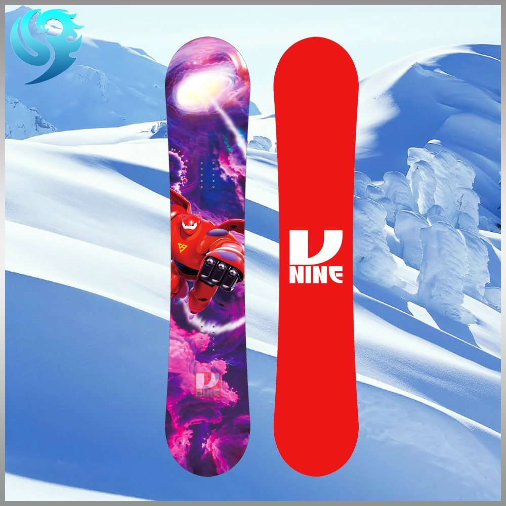 Poplar Wood Colorful Printed Design Wholesale Snowboard