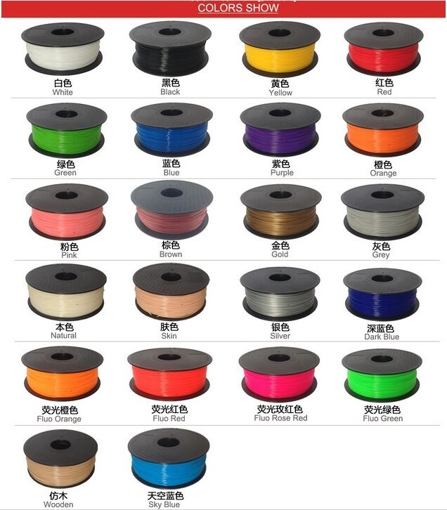 Free Shipping Hot Sell 3D Printing Material ABS Filament