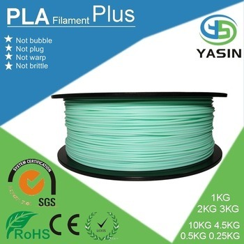 Wholesale 1.75mm Plastic ABS Filament for 3D Printer with SGS Certification
