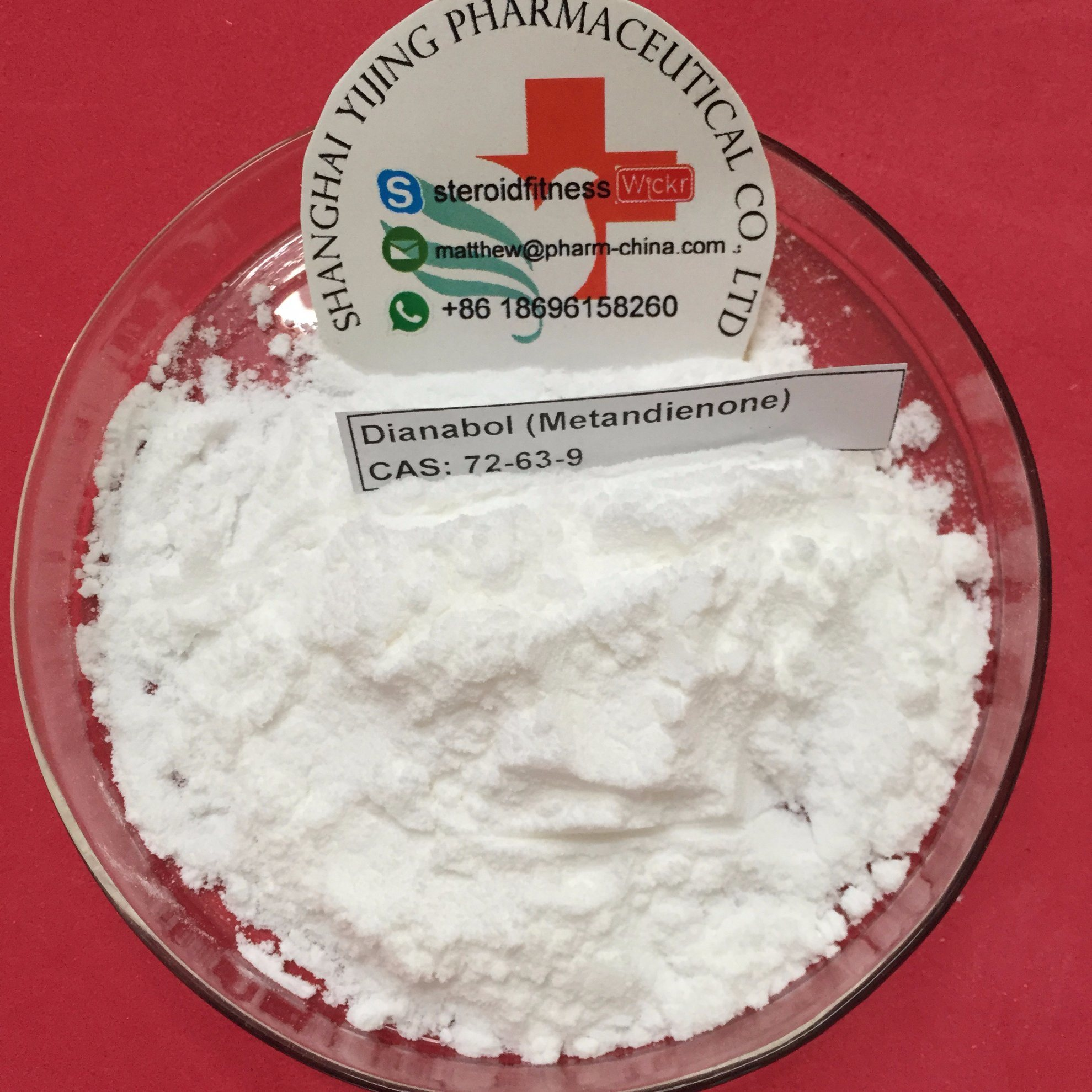 High Purity Metandienone / Dianabol (Dbol) Steroids Powder for Muscle Building